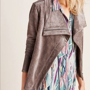 Anthropologie Irina Sueded Moto Jacket